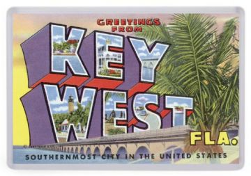 Greetings From Key West, Florida Fridge Magnet